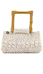 Nannacay Ebano Macrame Bag In Cream. Natural