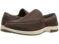 Deer Stags Bowen Dark Brown Simulated Oiled Leather Slip On Shoes