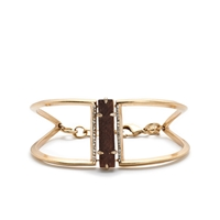 J.Crew Wood And Pave Cuff Bracelet Antique Gold