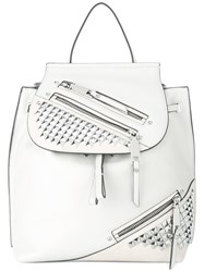 Marc Jacobs Zip Pack Backpack White