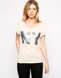 Selected Denni Ny T Shirt Bisquemelange