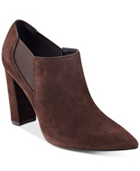 Marc Fisher Hydra Booties Women's Shoes Brown Suede