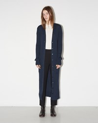 Maison Martin Margiela Long Ribbed Cardigan Blue