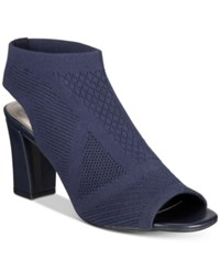 Impo Valerie Peep Toe Sandals Midnight Blue
