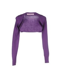 Kaos Topwear Shrugs Women Purple