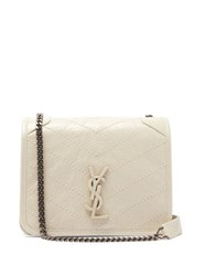 Saint Laurent Niki Mini Leather Cross Body Bag White