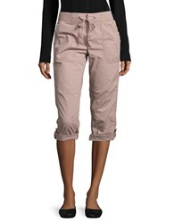 Lord And Taylor Petite Roll Tab Cropped Pants Orange