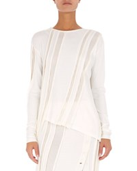Atlein Long Sleeve Sculpted Jersey Top White