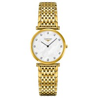 Longines L45122878 Unisex La Grande Classique Diamond Bracelet Strap Watch Gold Mother Of Pearl