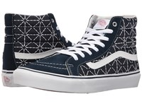 Vans Sk8 Hi Slim Quilted Denim Dress Blues Zephyr Skate Shoes Black