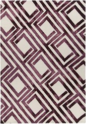 Chandra Elvo 33903 Rectangular Hand Tufted Contemporary Wool Area Rug Purple