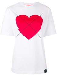 House Of Holland Lee Heart T Shirt Women Cotton M White
