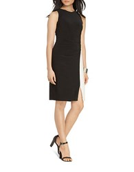 Lauren Ralph Lauren Petite Colorblock Jersey Dress Black White