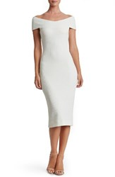 Dress The Population Women's Claudette Textured Ivory