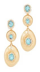 Alexis Bittar Liquid Silk Dangling Earrings Polished Gold
