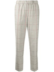 Peserico Tapered Checked Pattern Trousers 60