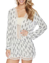 Athena Willow Cotton Crochet Tunic Multi