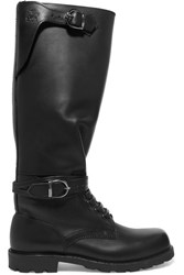 Ludwig Reiter Husaren Distressed Leather Knee Boots Black