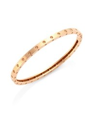 Roberto Coin Pois Moi 18K Rose Gold Oval Bangle Bracelet
