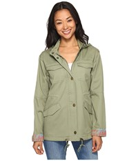Roxy Sultanis Military Jacket Oil Green Women's Coat