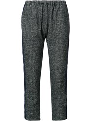 Engineered Garments Elasticated Waist Cropped Trousers Grey