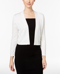 Calvin Klein Rhinestone Shrug Cardigan Winter White