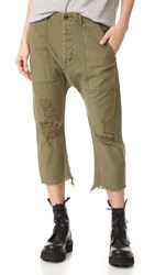 R 13 R13 Ripped Utlity Pants Fatigue Olive