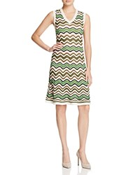 M Missoni Relief Ripple Stitch Dress Leaf