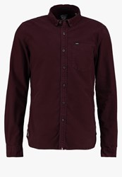 Superdry Tailored Fit Shirt Rum Red Bordeaux