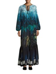 Romance Was Born Tail Feather Chiffon Gown Black