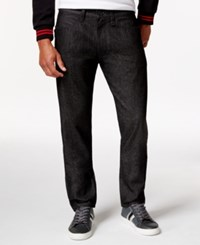 Sean John Racer Raw Black Wash Jeans