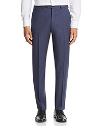 Emporio Armani Micro Check Regular Fit Dress Pants Blue