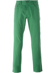 Salvatore Ferragamo Straight Leg Jeans Green