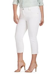 Lucky Brand Plus Classic Cropped Pants Clean White