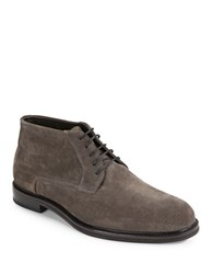 Hugo Boss Suede Lace Up Chukkas Grey