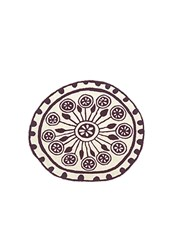Nani Marquina Rangoli 1 Rug Small 4 Feet 1 Inch Brown