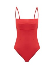 Haight Paula Square Neck Swimsuit Red