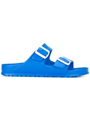 Birkenstock Buckled Detail Sliders Women Rubber 38 Blue