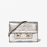 Proenza Schouler Ps11 Wallet With Strap In Metallic New Linosa Leather