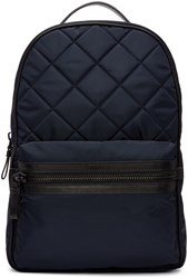 Moncler Navy Quilted Backpack