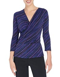 Ellen Tracy Surplice Wrap Top