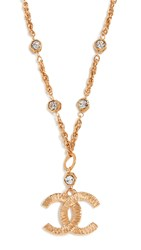 Wgaca What Goes Around Comes Around Chanel Gold Crystal Necklace