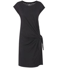Velvet Gussie Cotton Tie Dress Black