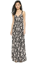 Thakoon Braided Strap Maxi Dress Pink Multi