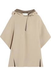 Halston Double Faced Wool Poncho Nude
