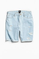 Bdg Hailstone Distressed Denim Short Vintage Denim Light
