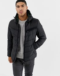G Star Attac Quilted Jacket With Hood In Black