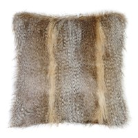 Helen Moore Faux Fur Siberian Wolf Cushion Grey
