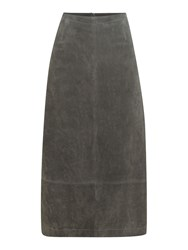 Pied A Terre Suede Skirt Grey