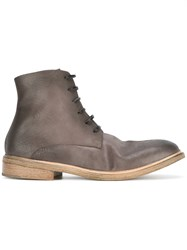 Marsell Lace Up Boots Grey